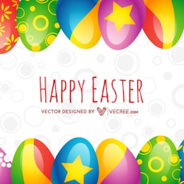 Happy Easter Colourful Egg Background