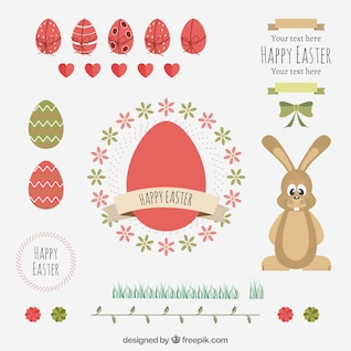 Happy easter elements