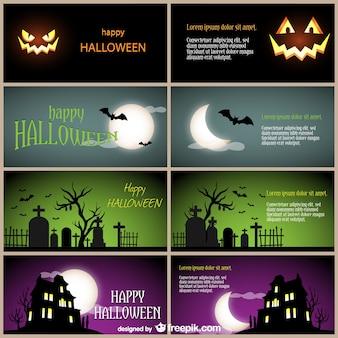 Happy Halloween card templates