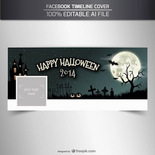 Happy Halloween Facebook timeline cover template