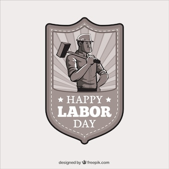 Happy labor day badge