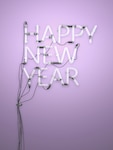 Happy New Year Neon Light 3D