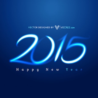 Happy new year with blue background