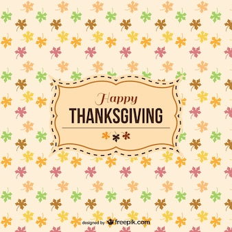 Happy Thanksgiving pattern with label