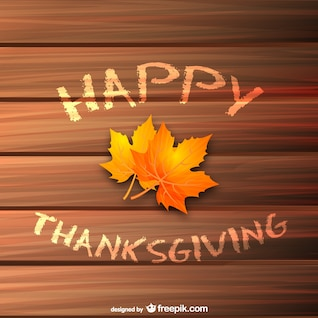 Happy Thanksgiving vector with leaf