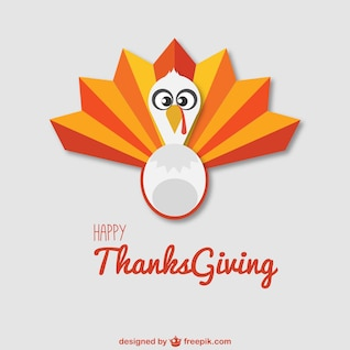 Happy Thanksgiving vector with turkey