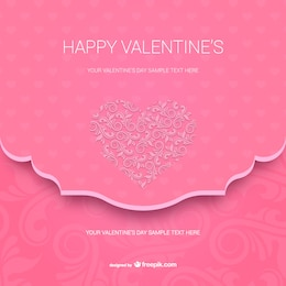 Happy Valentine's card template