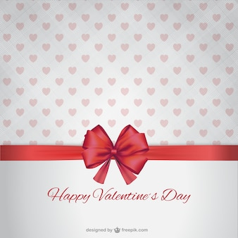 Happy Valentine's Day with ribbon