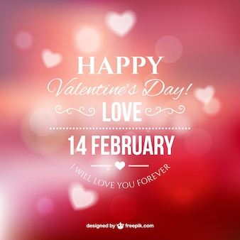 Happy Valentine's with blurred background