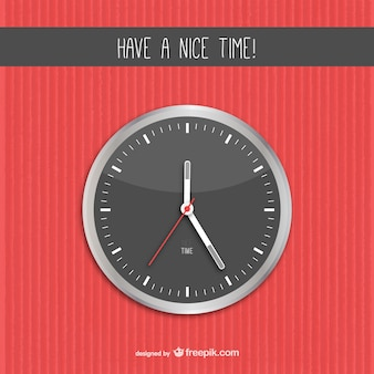Have a nice time vector with clock