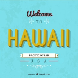 Hawaii retro card