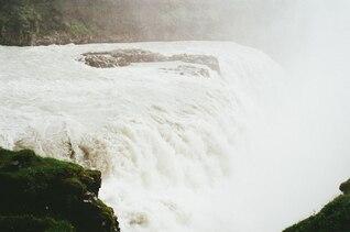 Haze in the waterfall
