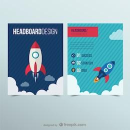 Headboard with a rocket