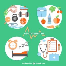 Healthy lifestyle design elements