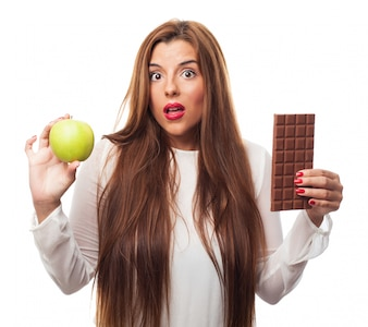 Healthy lifestyle thinking balance choose