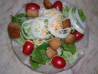 Healthy salads, oranges