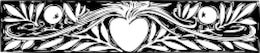 heart and branches border