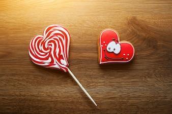Heart candy vignette symbol food