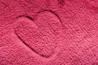 Heart drawn on a carpet