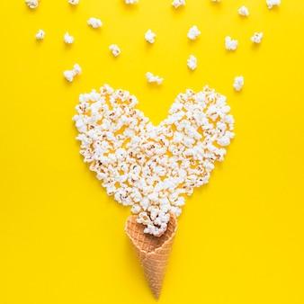 Heart from popcorn