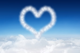Heart made with clouds
