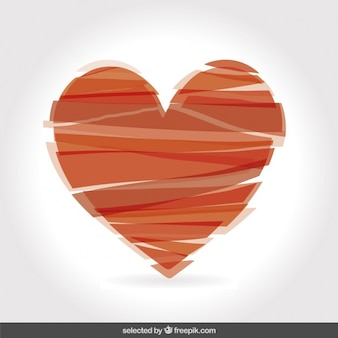Heart made with stripes