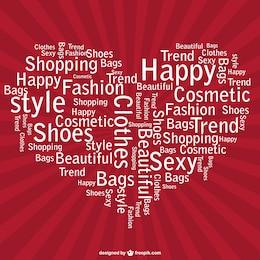 Heart shopping vector design