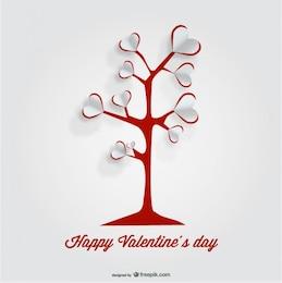 Heart Tree Paper Cutout Card Design