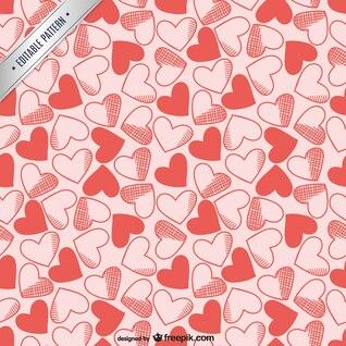 Hearts editable pattern
