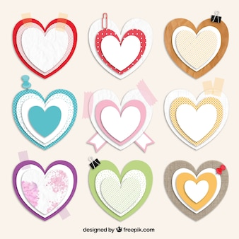 Hearts in scrapbooking style