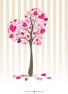 Hearts tree design