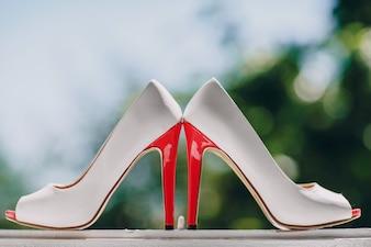 Heeled shoes close