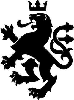 Heraldic king lion