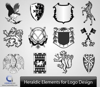 Heraldic Logos & Elements Collections