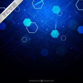Hexagons and lines background