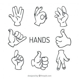 High five hands vectors sign