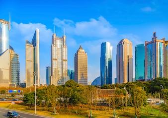 Highrise panorama beautiful china travel finance