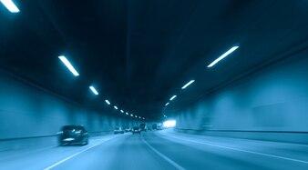 Highway night roadmap velocity light