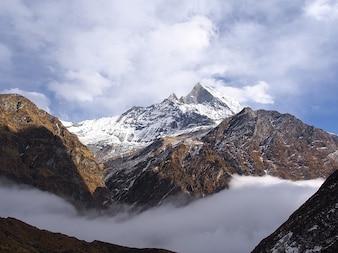 ヒマラヤ山脈ネパールBasecampの