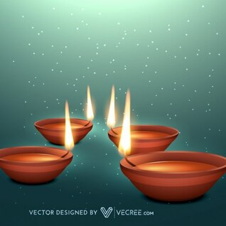 hindu celebration with beautiful flames
