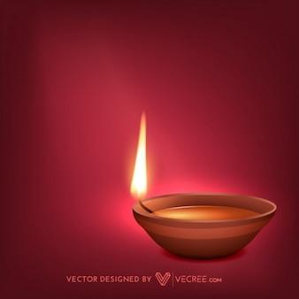 Hindu festival diwali greeting card