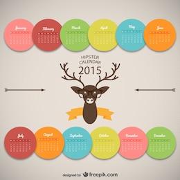 Hipster calendar design