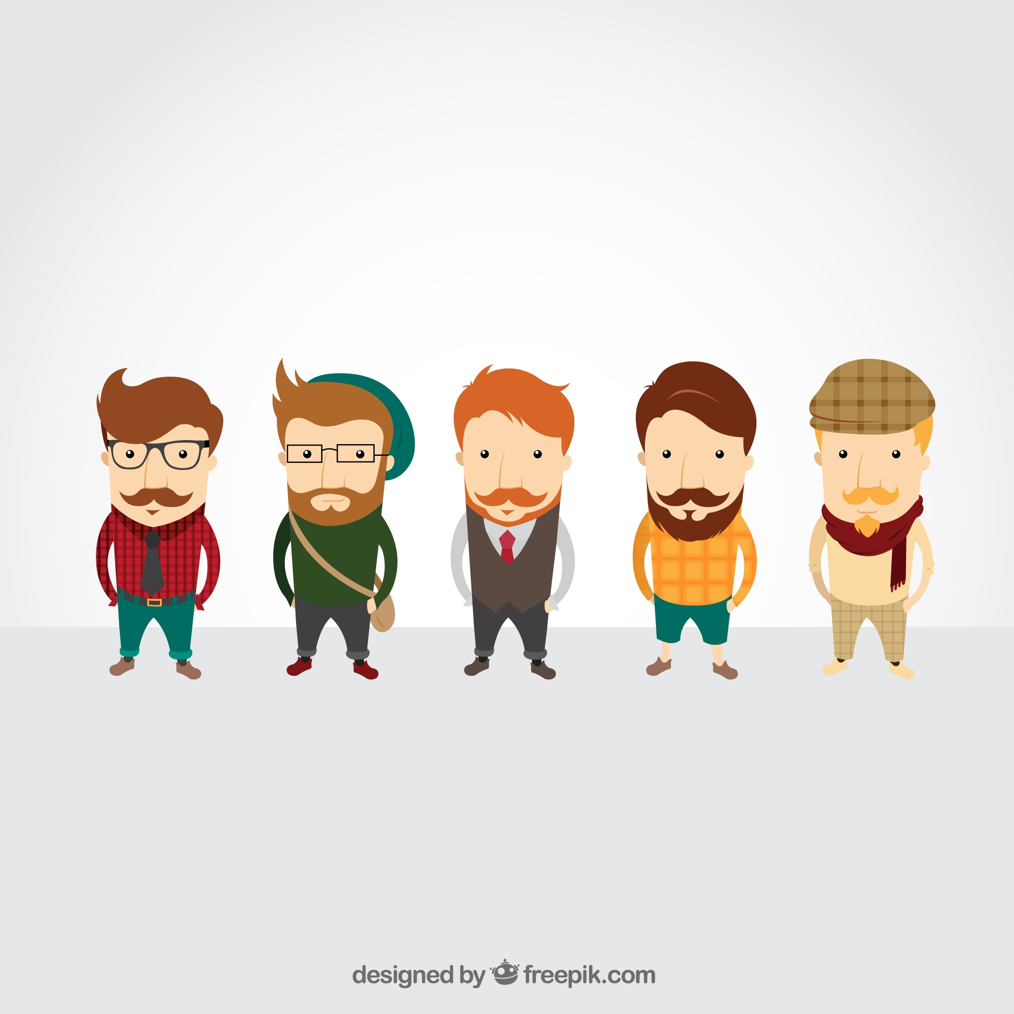 Hipster characters