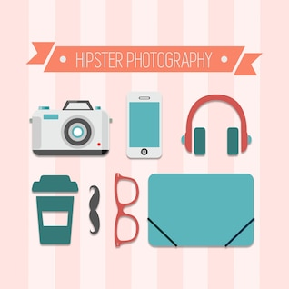 Hipster photography vector free design