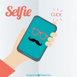 Hispter selfie vector art
