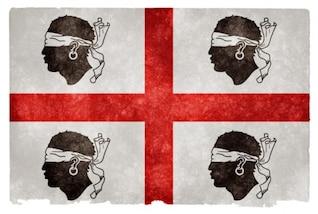 historical sardinia grunge flag