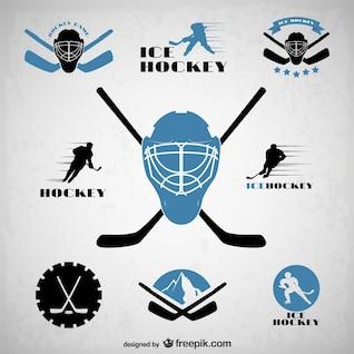 Hockey emblems set