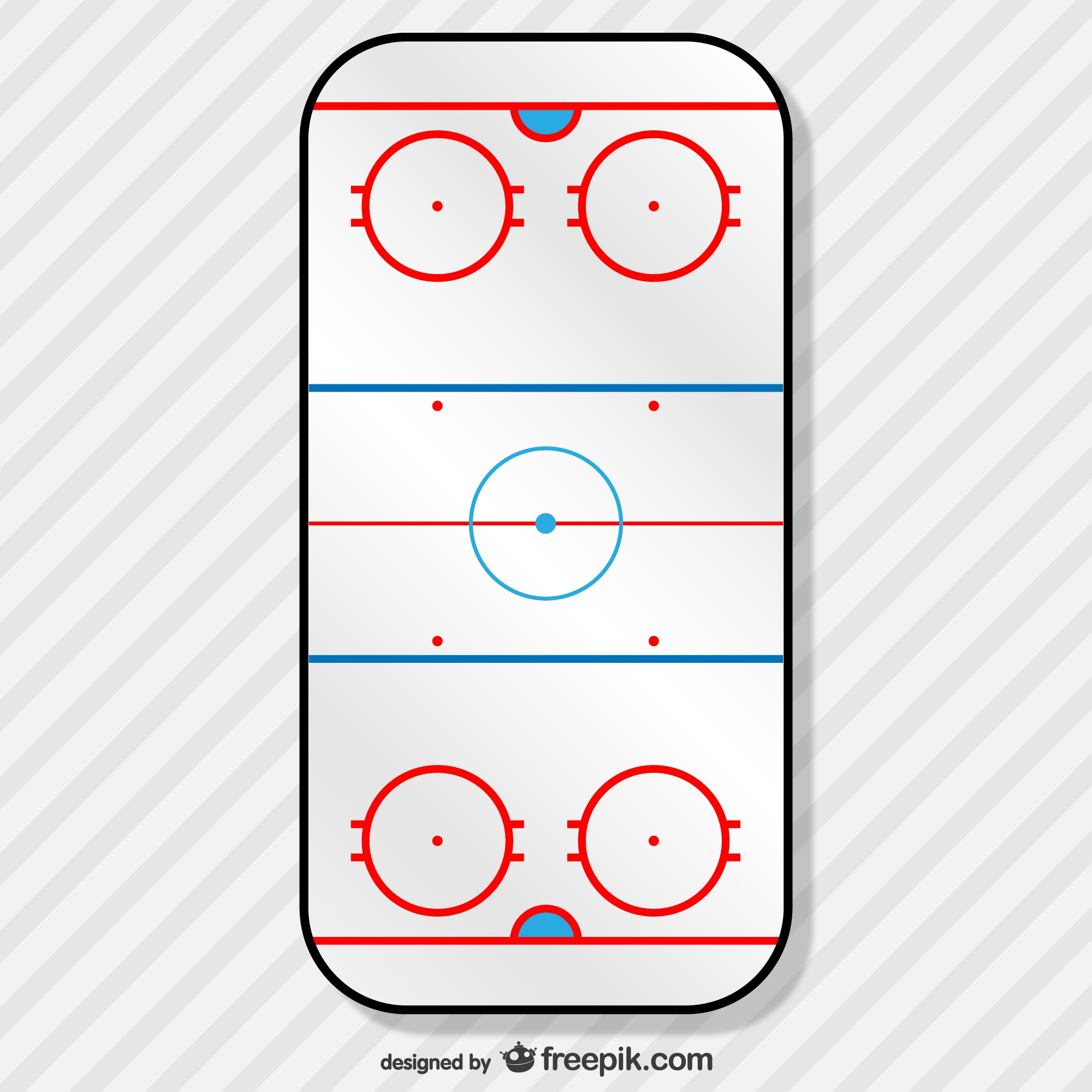Hockey field free vector