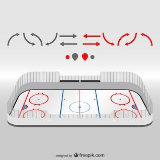 Hockey field vector design