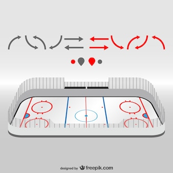 Hockey field vector design